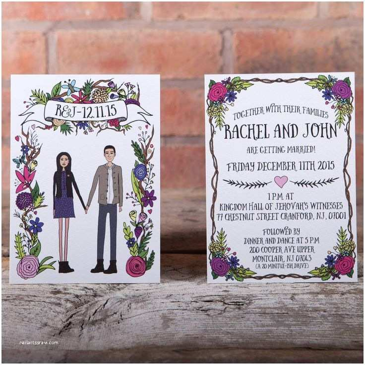 Illustrated Wedding Invitations Best 25 Illustrated Wedding Invitations Ideas On Pinterest