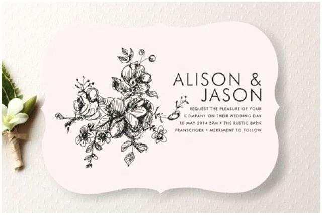 Illustrated Wedding Invitations Elegance Illustrated Wedding Invitations Weddbook