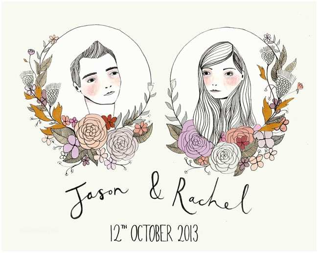 Illustrated Wedding Invitations Illustrated Invites by Katy Smail