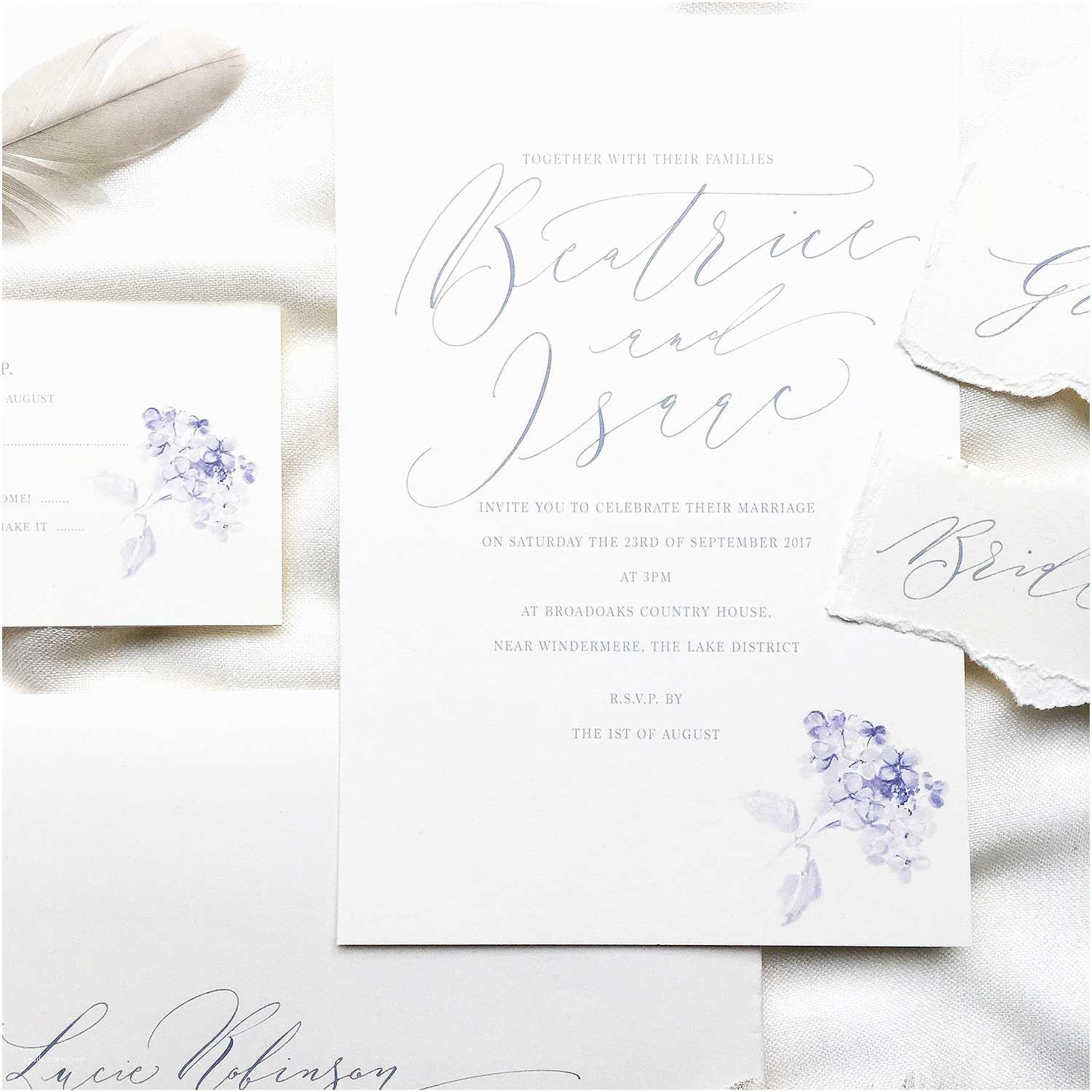 Illustrated Wedding Invitations Introducing Hydrangea – A Charming and Pretty Illustrated