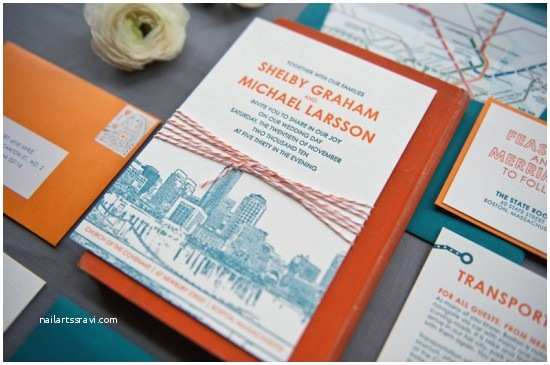Illustrated Wedding Invitations Shelby Mike S Modern Illustrated Boston Wedding Invitations