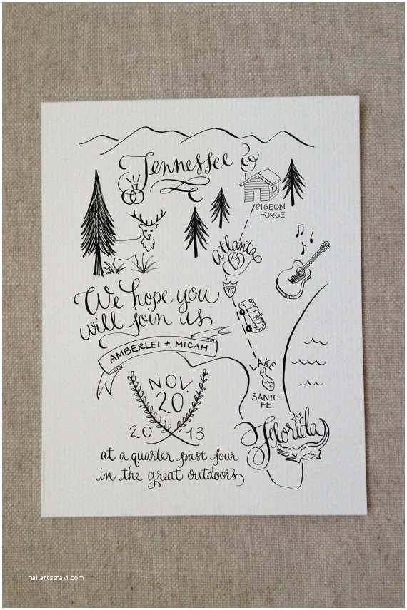 Illustrated Wedding Invitations the 25 Most Beautifully Illustrated Wedding Invites