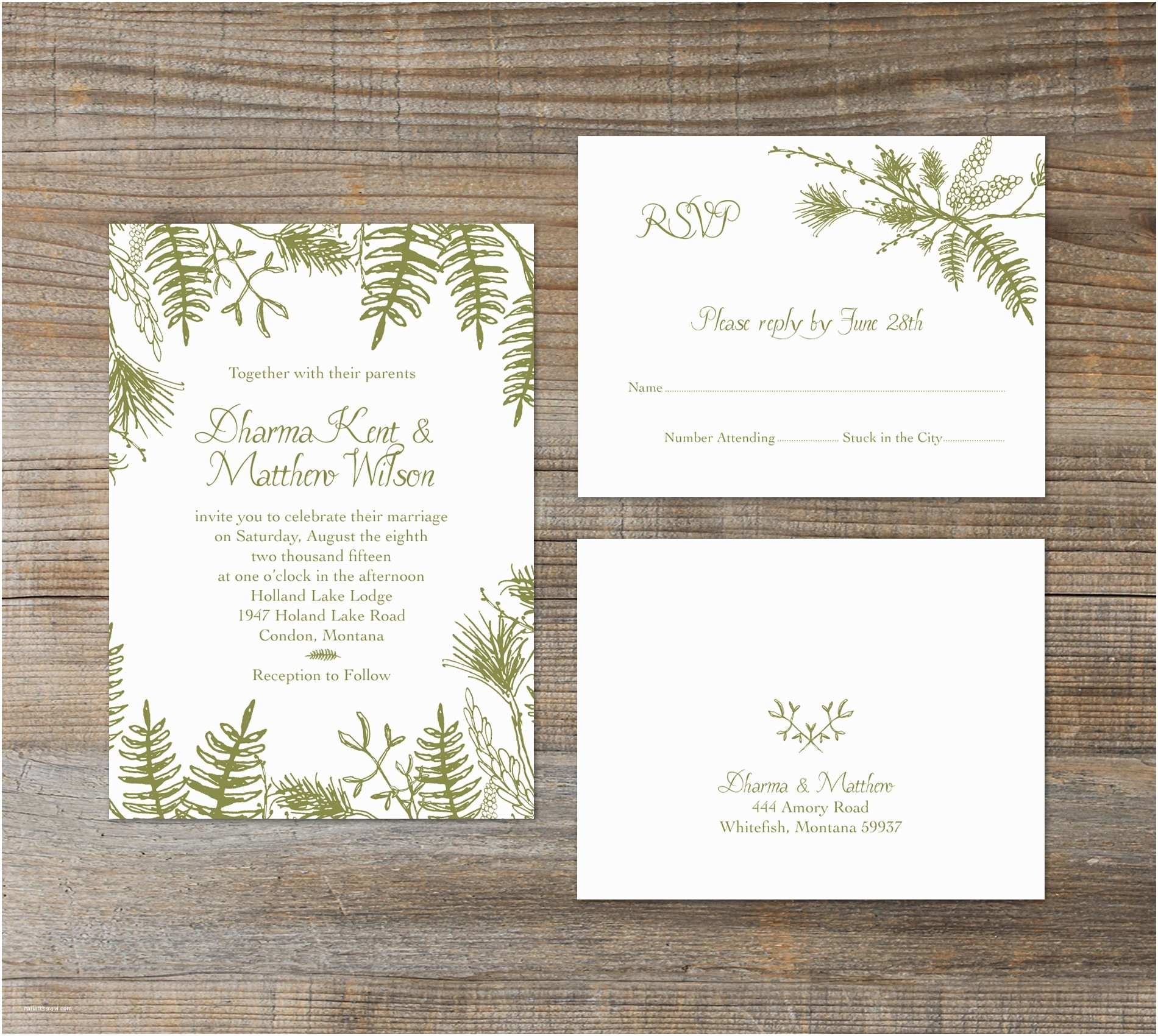 Impressive Wedding Invitations 8 formidable Woodland Wedding Invitations You Must See