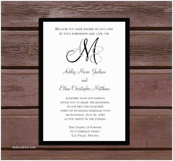 Impressive Wedding Invitations Amazing Monogram Wedding Invitations