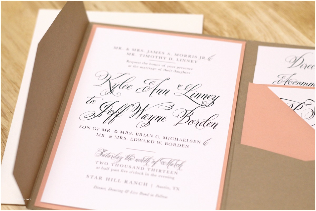 Impressive Wedding Invitations Imposing Pocketfold Wedding Invitations