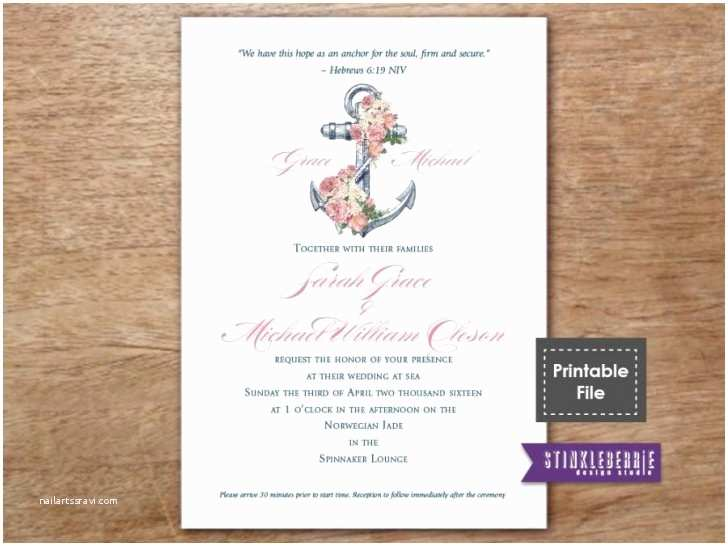 Impressive Wedding Invitations Impressive Anchor Wedding Invitations to Create Your Own