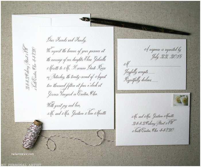 Impressive Wedding Invitations Impressive Handwritten Wedding Invitations