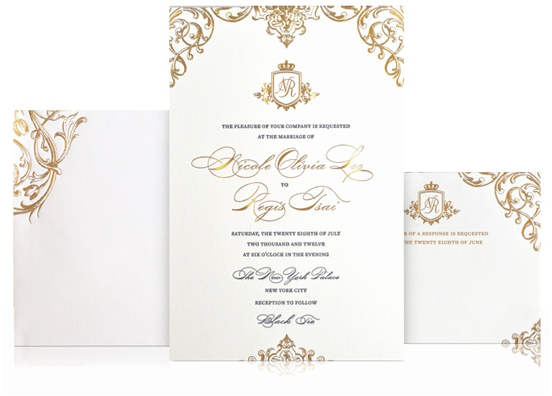 Impressive Wedding Invitations Impressive High End Wedding Invitations