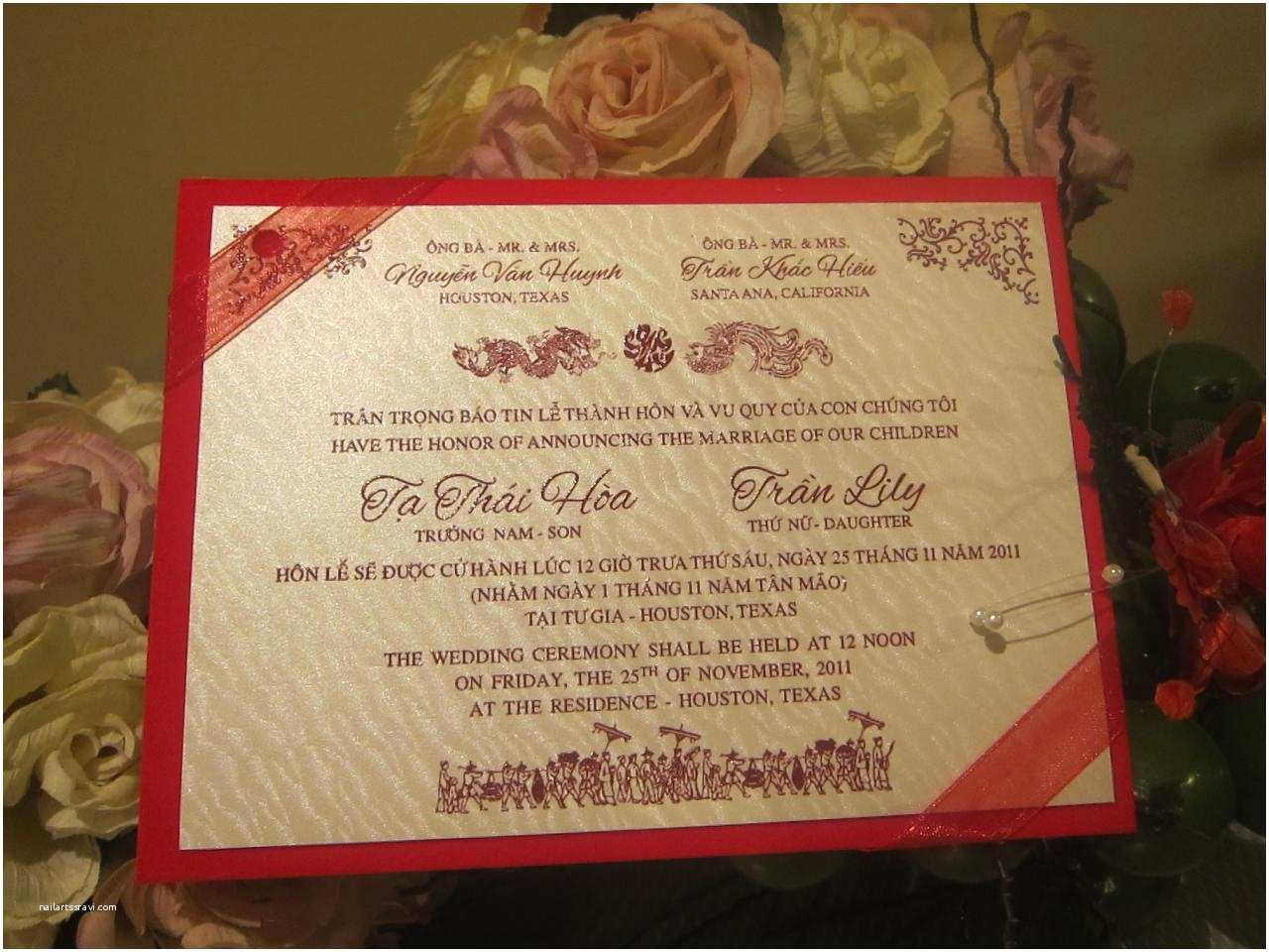 Impressive Wedding Invitations Impressive Vietnamese Wedding Invitations