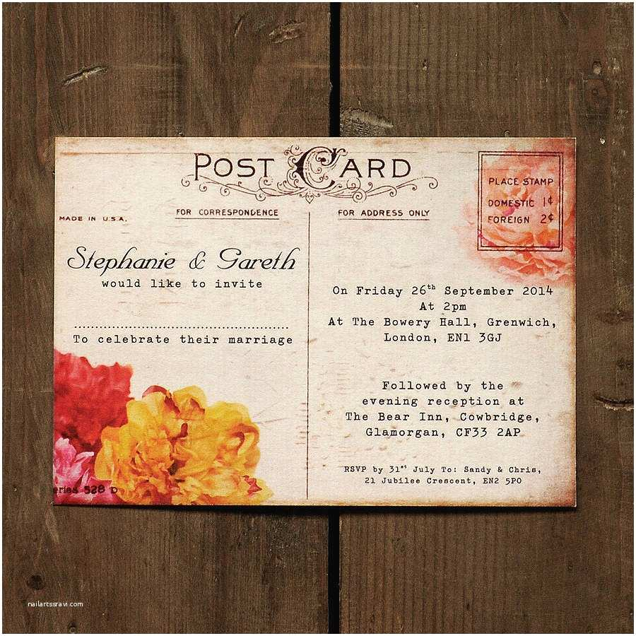 Impressive Wedding Invitations Impressive Wedding Invitation Postcards