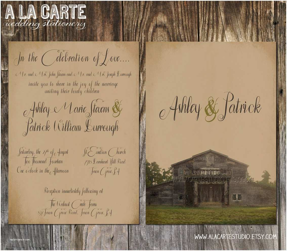 Impressive Wedding Invitations Mind Blowing Rustic Wedding Invitations Templates that