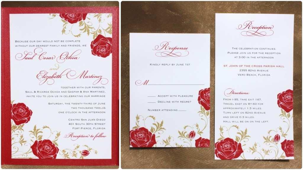 Impressive Wedding Invitations Wedding Invitation Templates Rose Wedding Invitations