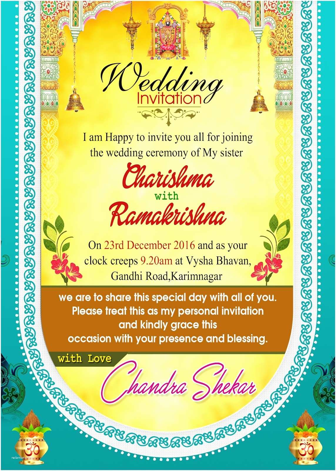 Indian Wedding Invitation Card Maker software Free Download Indian Wedding Invitation Wordings Psd Template Free for