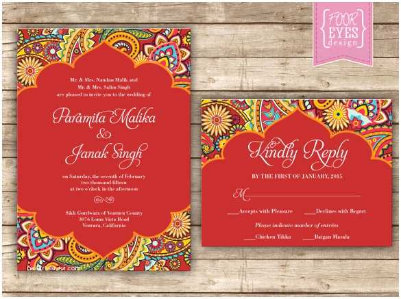 Indian Wedding Invitation Card Template 35 Traditional Wedding Invitations Psd