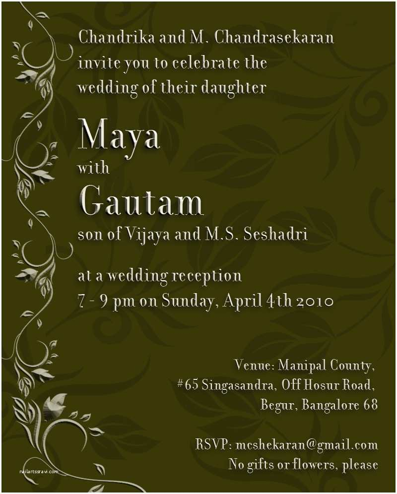 Indian  Invitation Card Template Amberly S Blog Guides For  Cards Indian