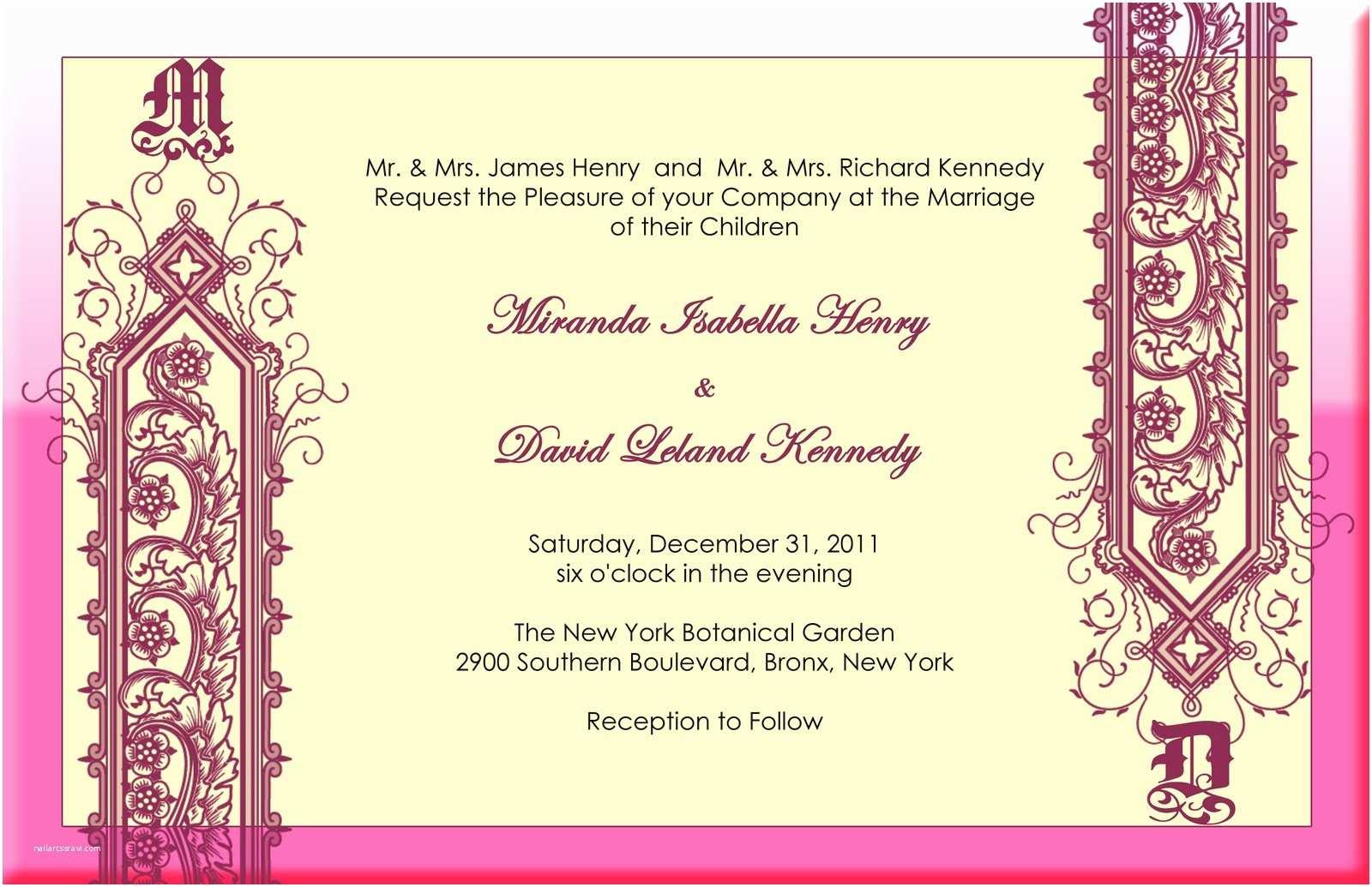 Indian Wedding Invitation Card Template Felicia S Blog Modern Indian Wedding