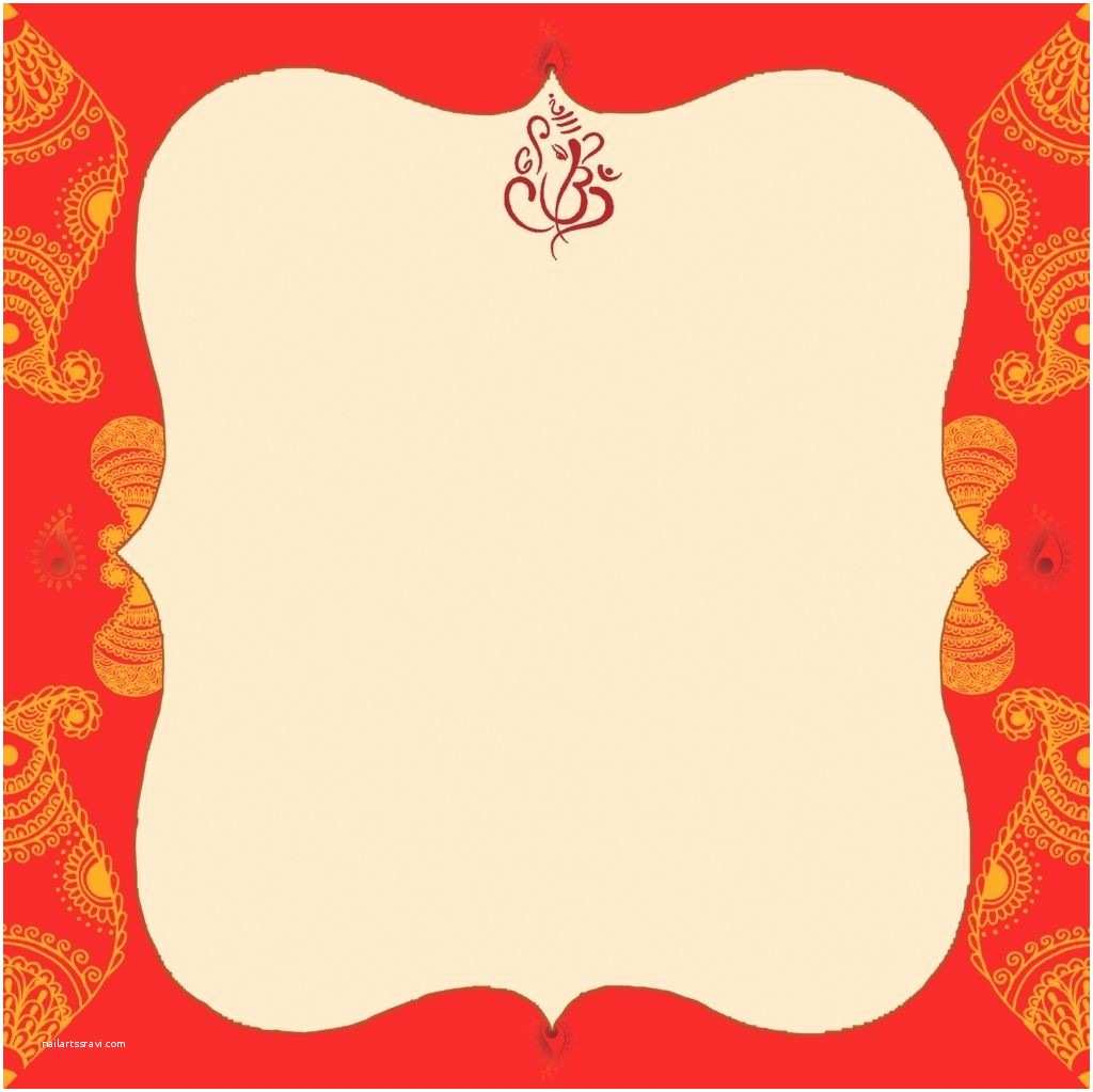 Indian Wedding Invitation Card Template Indian Wedding Card Empty Blank Wedding Invitation