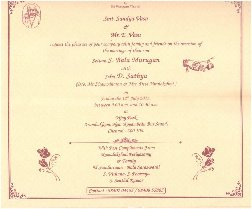Indian Wedding Invitation Card Template Indian Wedding Invitation Card Sample Various Invitation