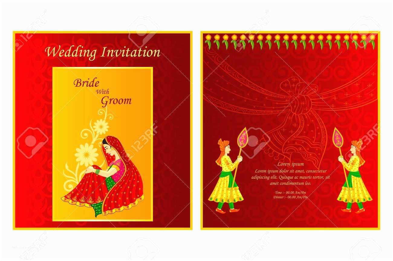 Indian Wedding Invitation Card Template Indian Wedding Invitation Cards Templates