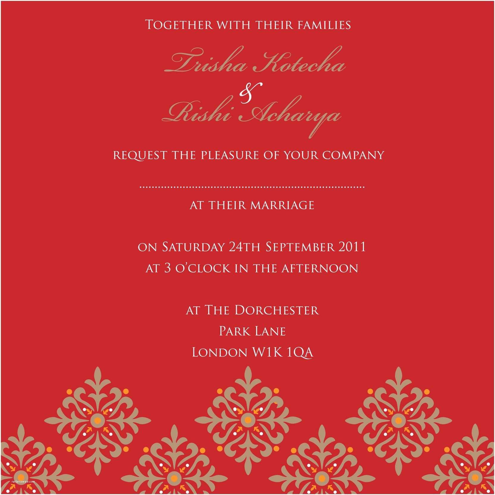 Indian Wedding Invitation Card Template Indian Wedding Invitation – Gangcraft