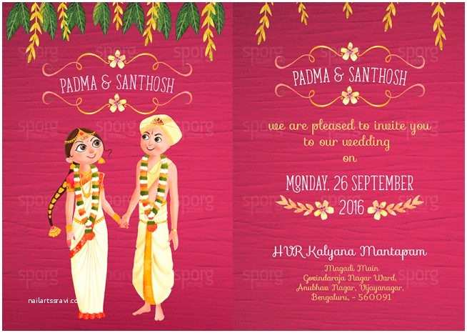 Indian Wedding Invitation Card Template Wedding Invitation Templates Indian Wedding Invitation