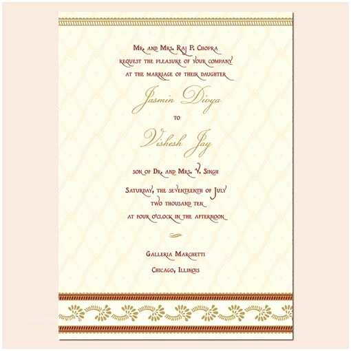 Indian Wedding Invitation Card Template Wedding Invitation Wording Wedding Invitation Templates Hindu