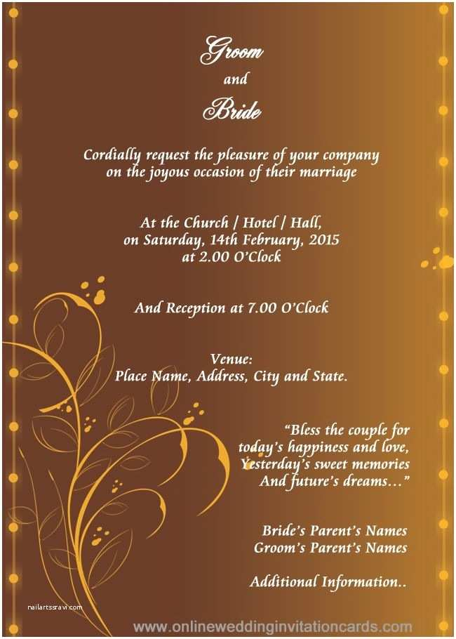 Indian Wedding Invitation Designs Free Download Hindu Wedding Invitation