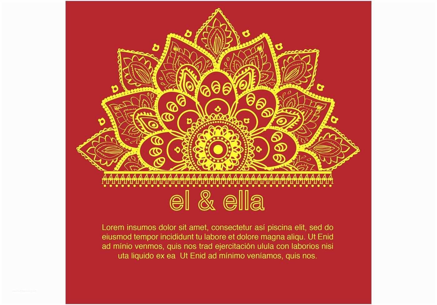 Indian Wedding Invitation Designs Free Download Indian Wedding Card Template Download Free Vector Art