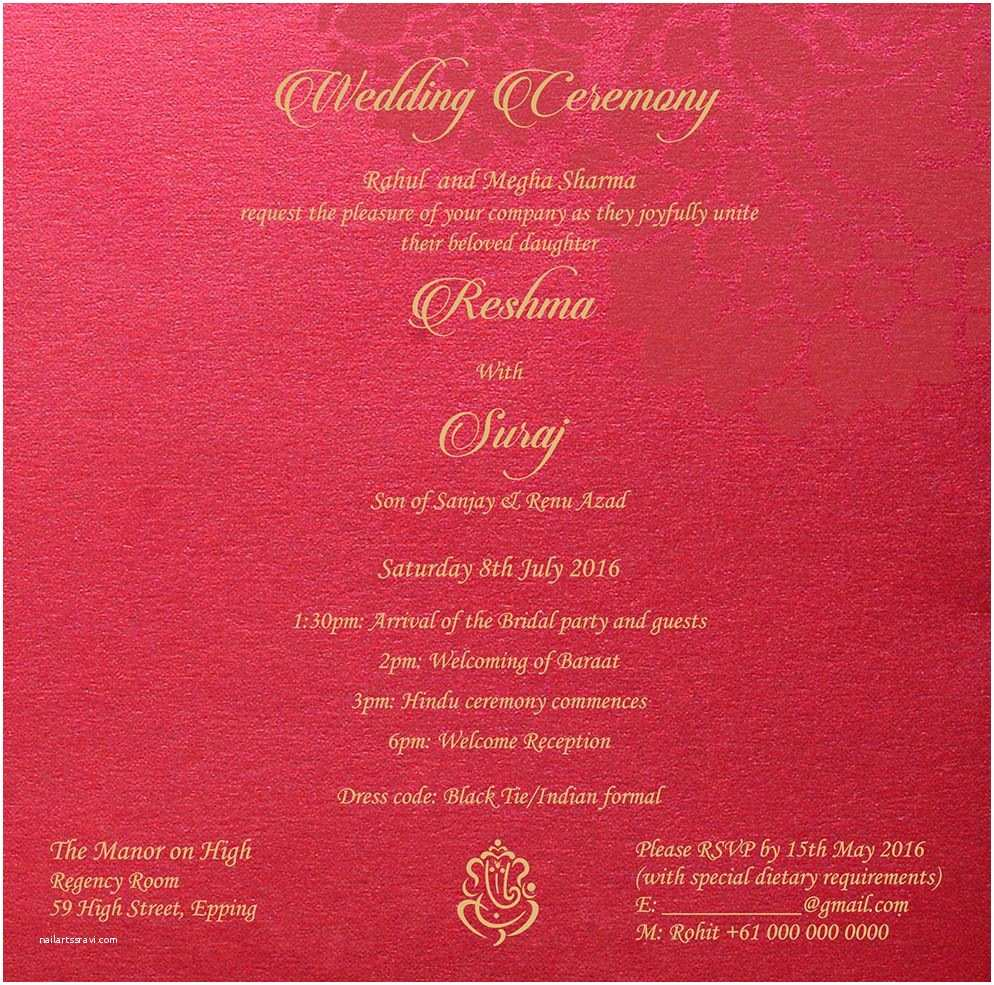 Indian Wedding Invitation Quotes Wedding Invitation Wording for Hindu Wedding Ceremony
