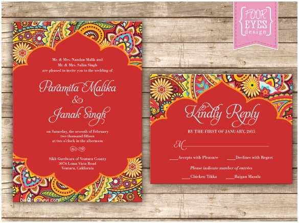 Indian Wedding Invitation Templates 35 Traditional Wedding Invitations Psd