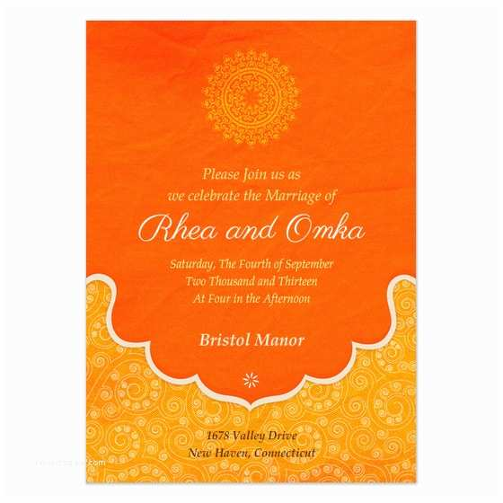 Indian Wedding Invitation Templates Indian Wedding Blessings Invitations & Cards On Pingg