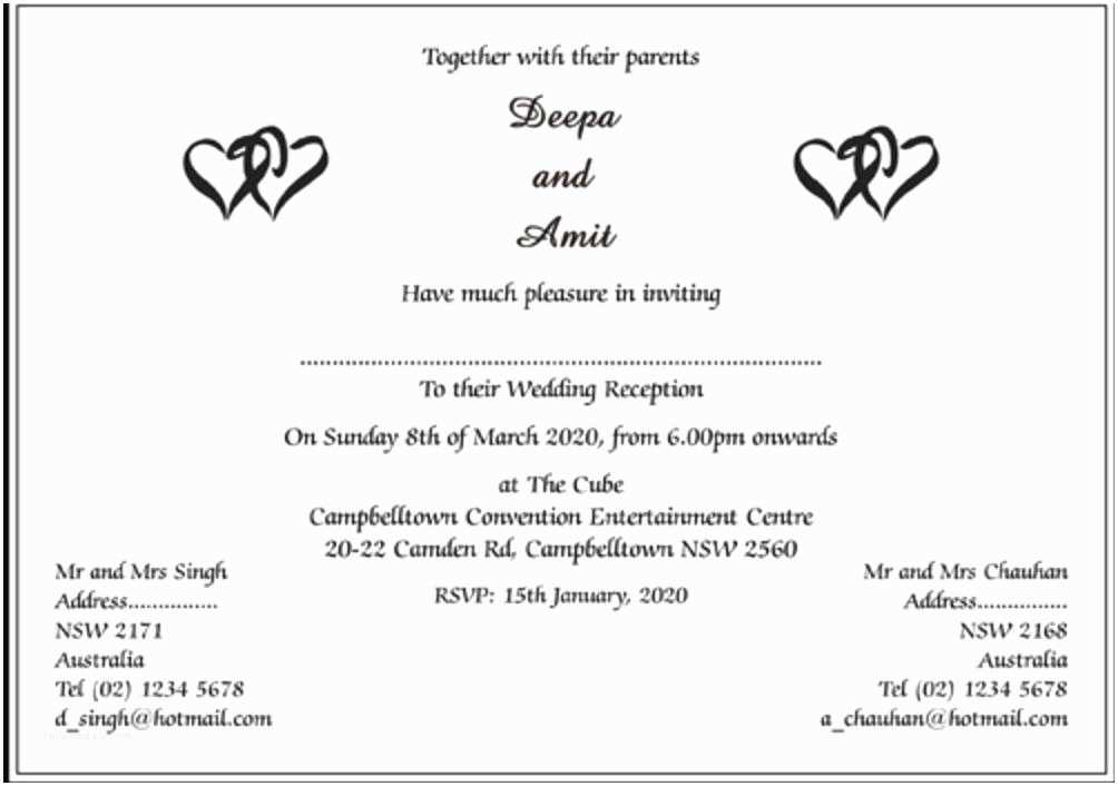 Indian Wedding Invitation Templates Indian Wedding Invitation Wording Indian Wedding