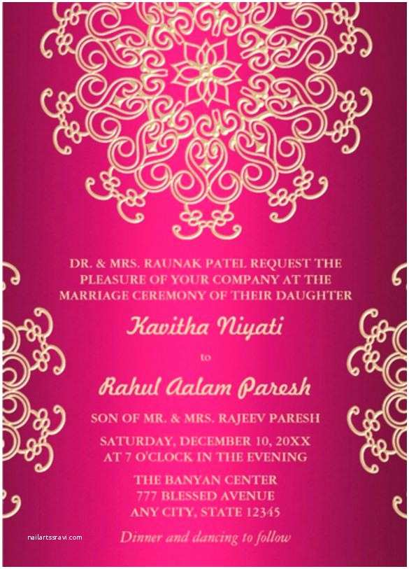 Indian Wedding Invitation Templates Lovely Indian Birthday Invitation Templates Hot Pink