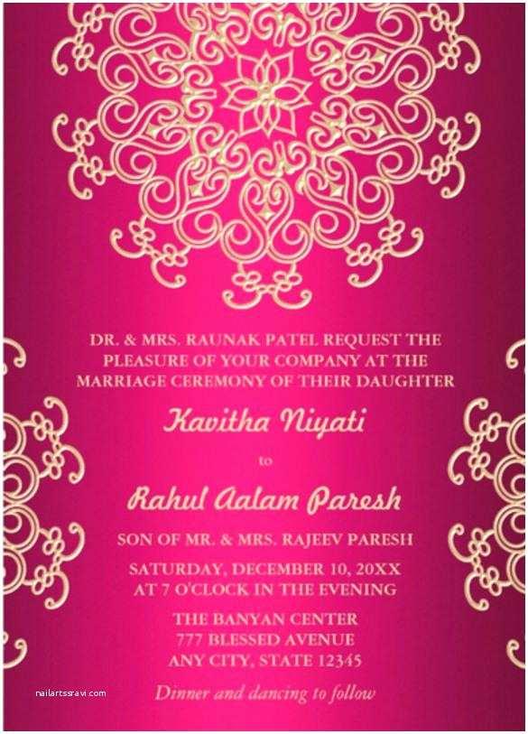 Indian Wedding Invitation Templates Lovely Indian Birthday Invitation Templates Hot Pink