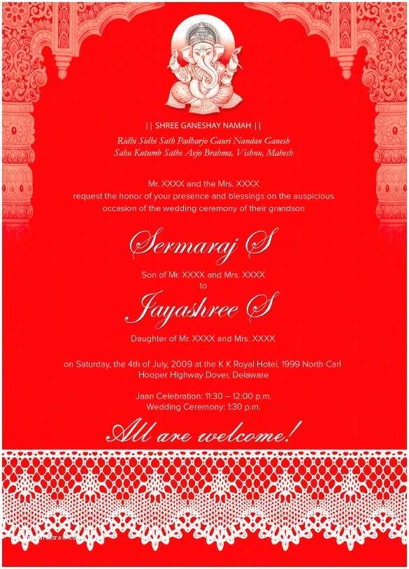 Indian Wedding Invitation Wording 35 Traditional Wedding Invitations Psd