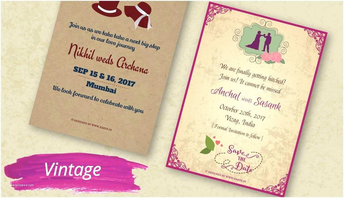 Indian Wedding Invitations Indian Wedding Invitation for Whatsapp Matik for
