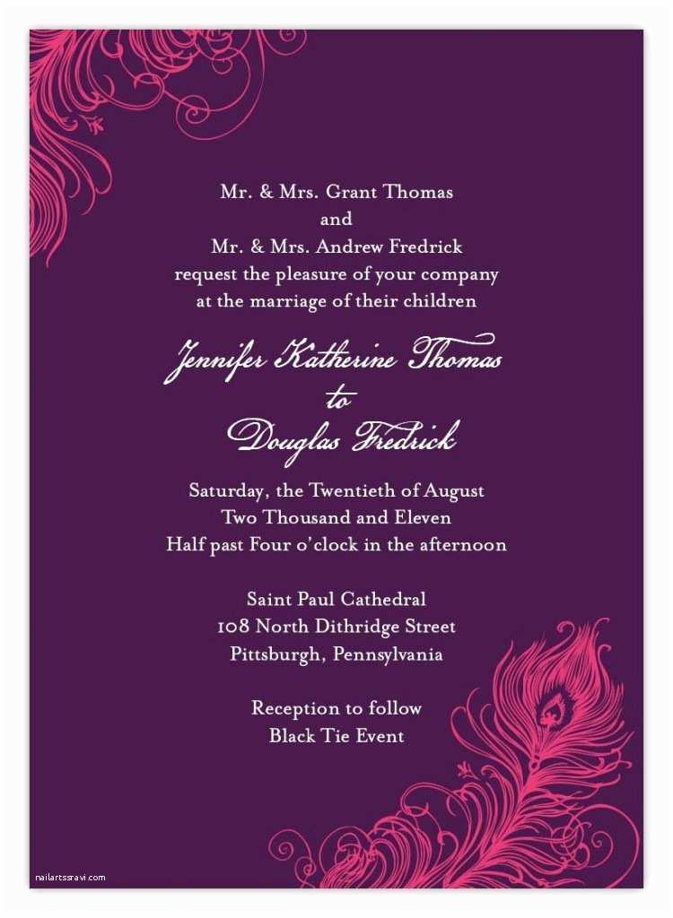 Indian Wedding Invitations Indian Wedding Invitation Wording Template Shaadi Bazaar