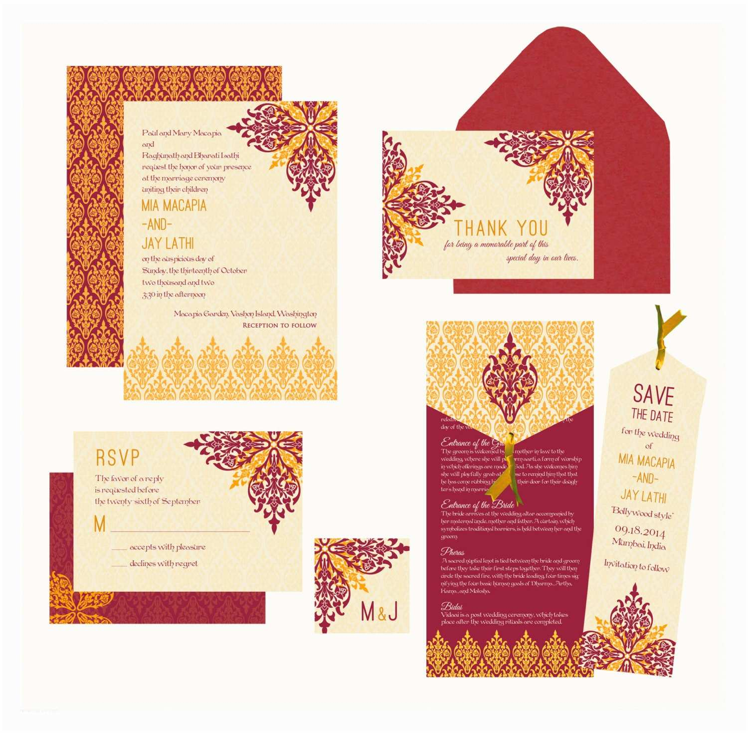 Indian Wedding Invitations Karnika Collection Indian Wedding Invitation Inspired by A