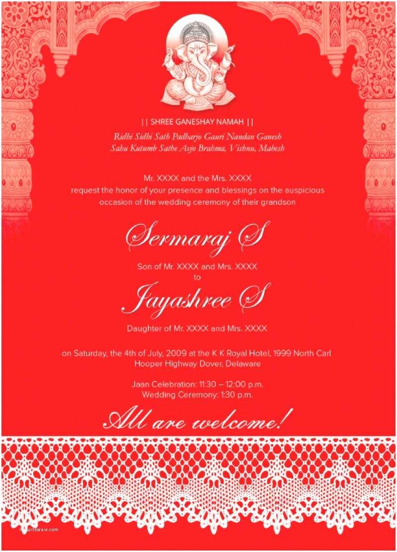 Indian Wedding Invitations Online Hindu Marriage Invitation Cards Design Free
