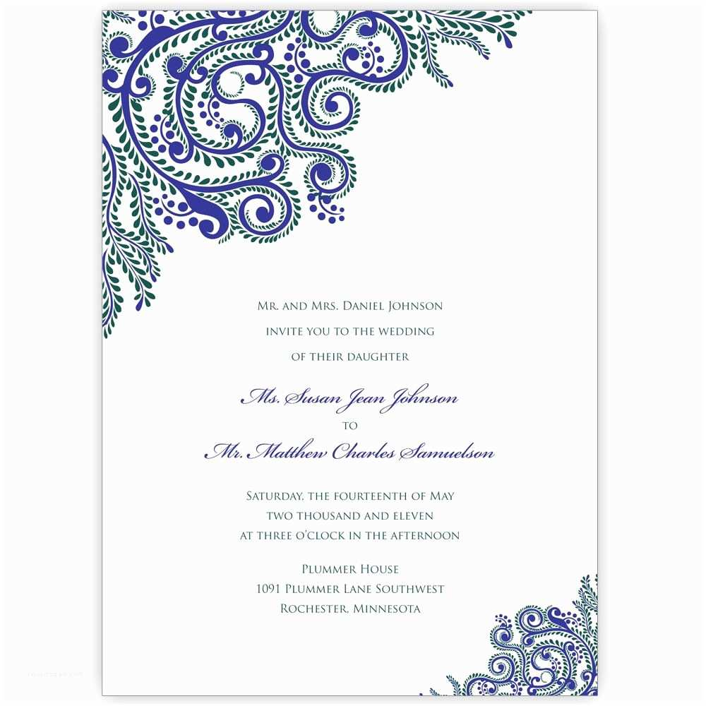 Indian Wedding Invitations Printable Vines Indian Wedding Invitations Digital Files