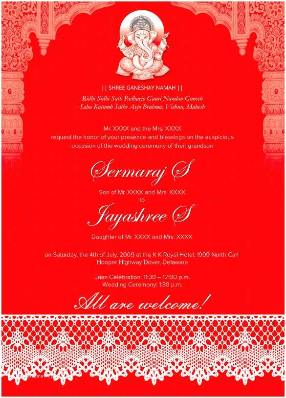Indian Wedding Invitations Usa 35 Traditional Wedding Invitations Psd