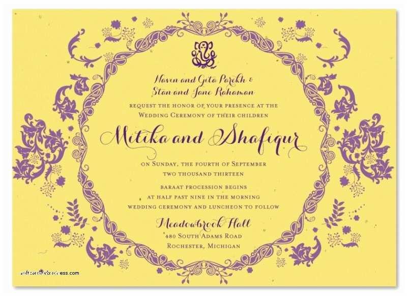 hindu wedding invitations usa