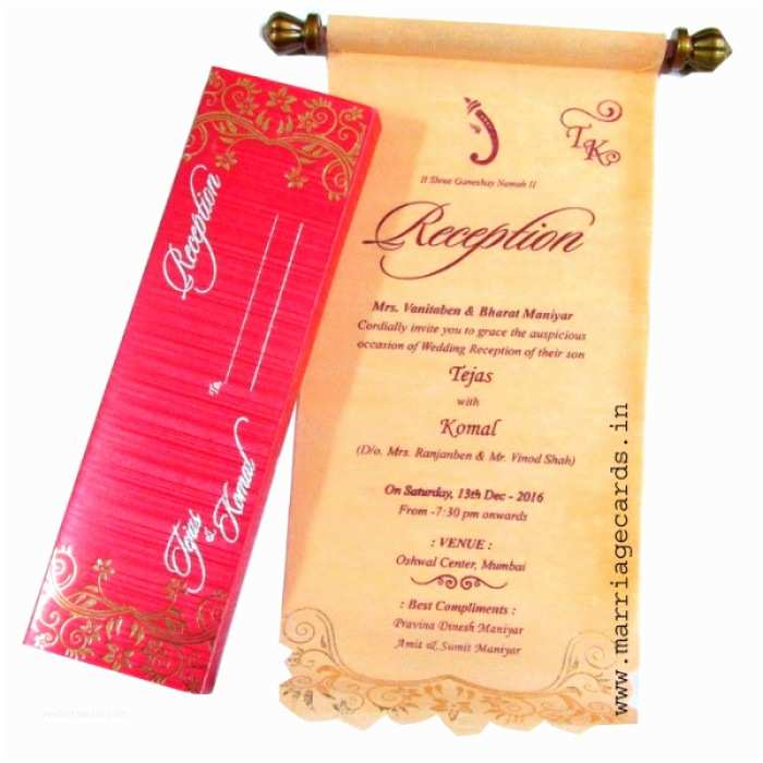 Indian Wedding Invitations Usa Indian Scroll Wedding Invitations Usa Yaseen for