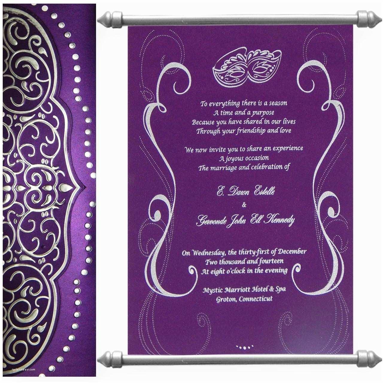 Indian Wedding Invitations Usa Indian Scroll Wedding Invitations Usa Yaseen