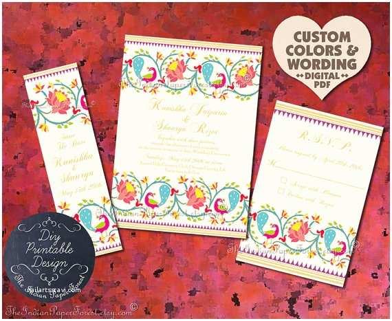 Indian Wedding Invitations Usa Indian Wedding Invitation Suite Design Pdf Template