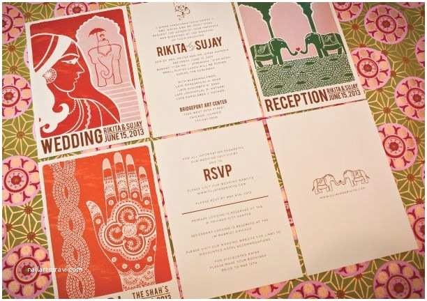 Indian Wedding Invitations Usa Modern Vintage Indian Wedding Invitations
