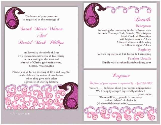 Indian Wedding Reception Invitation Templates Diy Bollywood Wedding Invitation Template Set Editable