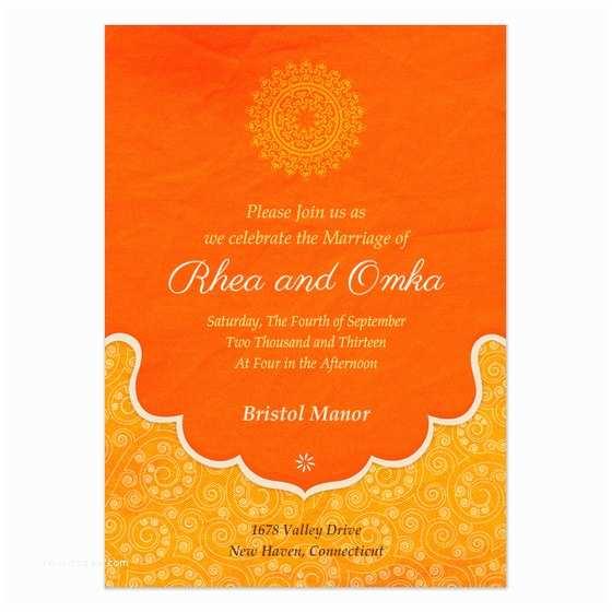 Indian Wedding Reception Invitation Templates Indian Wedding Blessings Invitations & Cards On Pingg