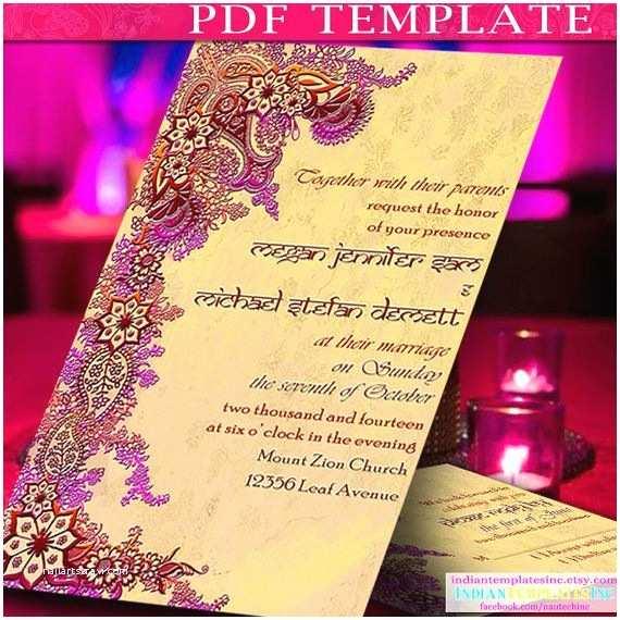 Indian Wedding Reception Invitation Templates Invitation Template Indian Wedding Cards by