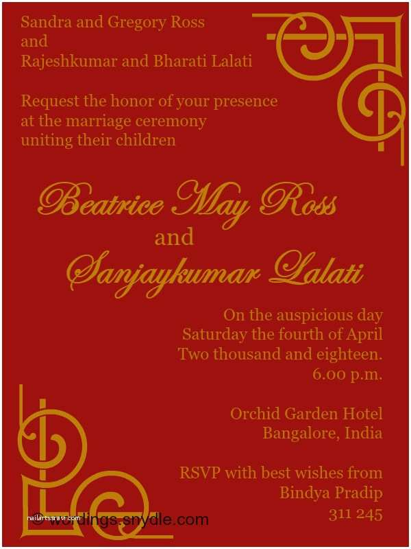 Indian Wedding Reception Invitation Wording Samples Bride Groom Indian Wedding Invitation Wording Samples Wordings and